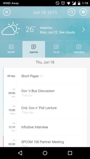 Agenda view