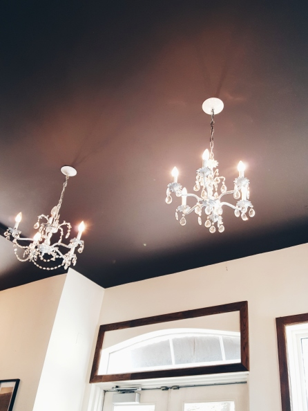 Cute chandeliers everywhere!