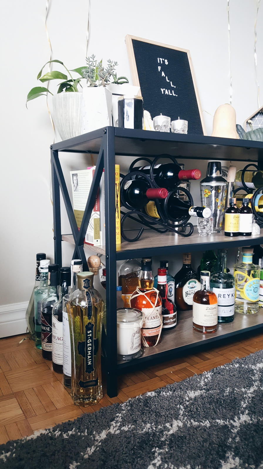 Highkey all our booze doesn't fit on the shelves. There are two overflow sides.