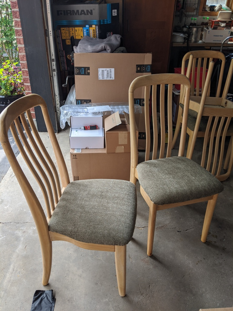 Reupholstered chairs!